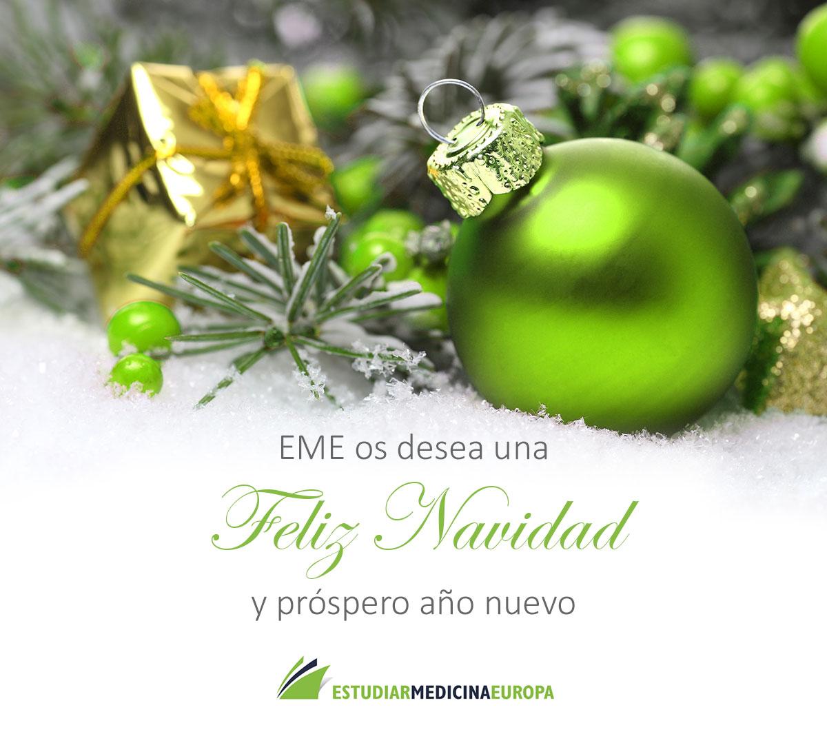 EME os desea Feliz Navidad y Feliz Año Nuevo